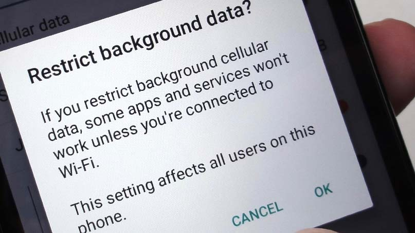 restrict background data galaxy s20