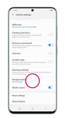 change storage location